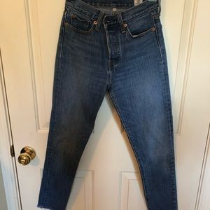 High Waisted Cotton Cropped Levi's